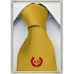 Cravatta Giallo Oro con...