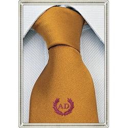 Cravatta Giallo Senape con...