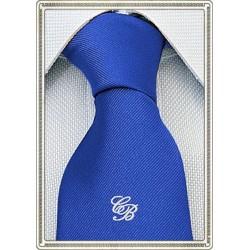 Cravatta con iniziali bianche